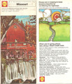 Vintage Shell Gas Station Road Map of Missouri - 1973