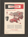 Vintage Champion Spark Plugs Two Color Magazine Ad - 1949
