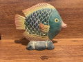 Whimsical, Colorful, Decorative, Handpainted Plaster Tropical Fish