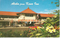 Vintage Aloha From Kona Inn Postcard by Ray Helbig's Hawaiian Service - 1960's