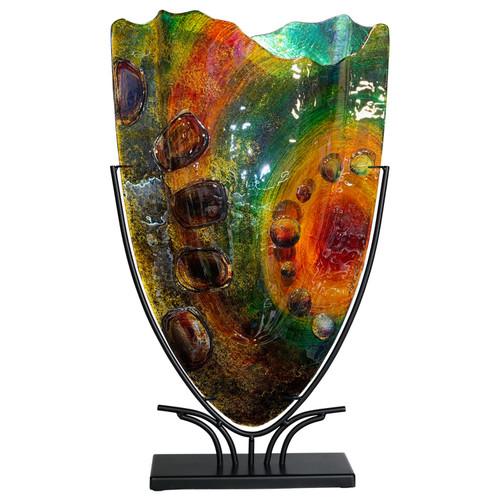 Large v shaped vase