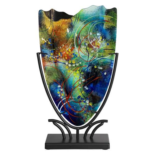 """15"""" x 9"""" small v shaped vase"""