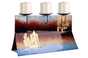 16 x 9 Fused Glass Candle Holder 20346