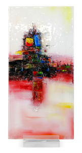 """12"""" x 24"""" Sculpture Pink Field with Acrylic Stand (71107)"""
