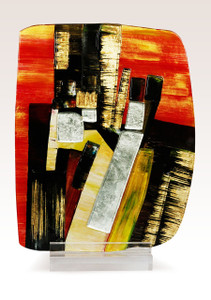 """12.5"""" x 17"""" Sculpture Building Abstract with Acrylic Stand (71129)"""