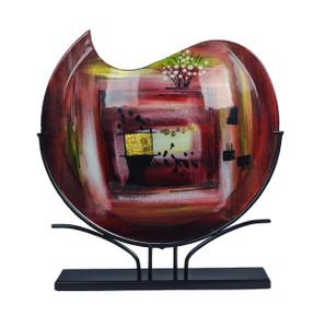 """18"""" W x 19"""" H x 4"""" D Curl Vase (00200)"""