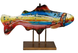 "18"" x 12"" Fish Sculpture with Stand 71155"