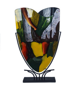 "19"" X 23"" Fused Glass Vase S12016"
