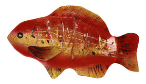 "18"" RED FISH PLATE 81161"