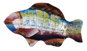 """18"""" LIME GILLS FISH PLATE 81165"""