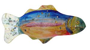 "18"" RAINBOW FISH PLATE 81166"