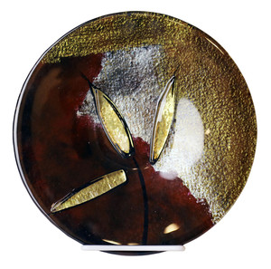 "10"" Plate, Hand painted on fused glass (71190)"