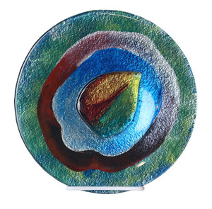 "10"" Plate, Hand painted on fused glass (71194) (Coming in December)"