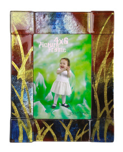 4x6 Fused glass Picture frame (72004) (Coming in December)