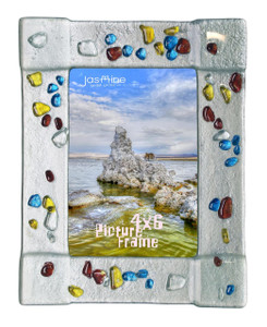 4x6 Fused glass Picture frame (72007)