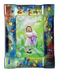 4x6 Fused glass Picture frame (72008) (Coming in December)