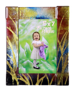 5x7 Fused glass Picture frame (72011)