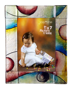 5 x 7 Fused glass Picture frame (72012)