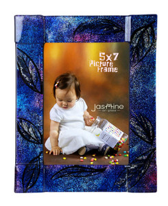 5x7 Fused glass Picture frame (72014)
