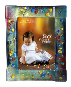 5 x 7 Fused glass Picture frame (72015)