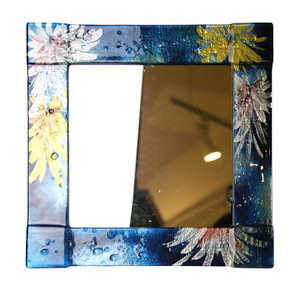 "14"" Sq. Fused glass mirror (72020)"