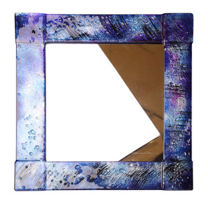 "14"" Sq. Fused glass mirror (72021)"