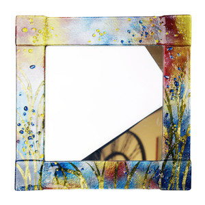 "14"" Sq. Fused glass mirror (72022)"