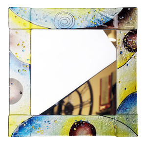 "14"" Sq. Fused glass mirror (72023)"