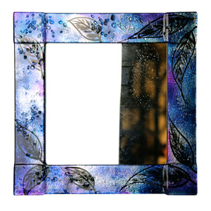 "14"" Sq. Fused glass mirror (72024)"