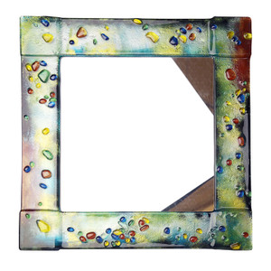 "14"" Sq. Fused glass mirror (72025)"