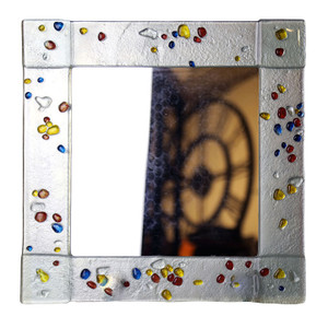 "14"" Sq. Fused glass mirror (72026)"