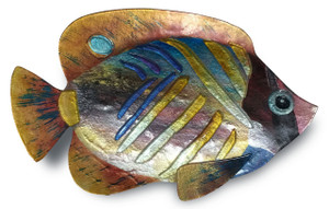 "18"" x 10"" Tropical Fish Gold and Green"