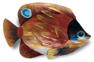 "18"" x 10"" Tropical Fish Gold and Red"