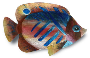 "18"" x 10"" Tropical Fish Gold and Blue"