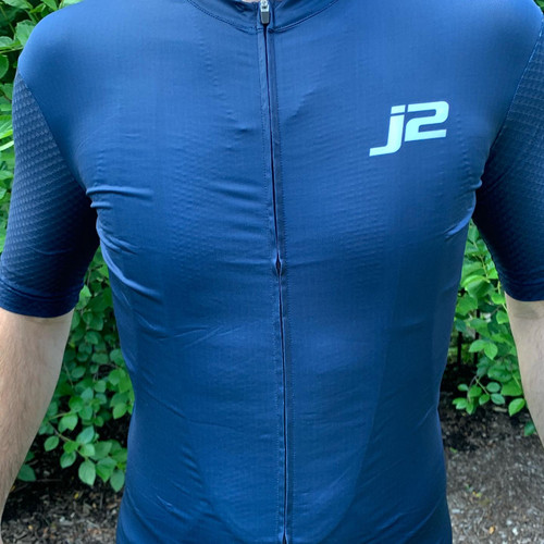 J2Velo Deep Blue Jersey Front