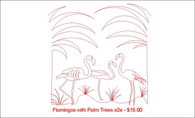 Flamingos with Palm Trees e2e
