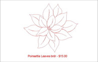 Poinsettia Leaves brdr