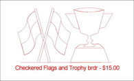 Checkered Flags and Trophy brdr
