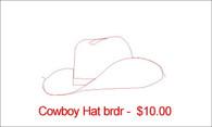 Cowboay Hat brdr