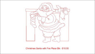 Christmas Santa with Fire Place blk