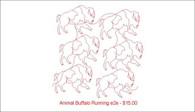 Animal Buffalo Runing e2e