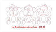 No Evil Monkeys Three brdr