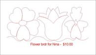 Flower brdr for Nina