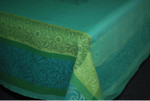 Jacquard Weave French Tablecloth - Bargeme Green