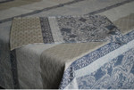 Jacquard Weave French Tablecloth - Cheverny Blue/Grey