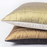 Amity Home Alexandra Silk and Velvet Quilt - Lemongrass/Ivory