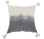 Pom Pom at Home Grey Ombre Handwoven Pillow - Ivory/Grey