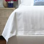 Lili Alessandra Stela Matelasse Blanket - White Cotton