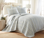 Levtex Bondi Stripe Blue Quilt Set