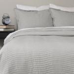 Amity Home Wave Matelasse Coverlet Set - Grey